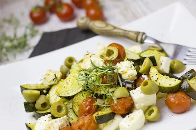 Griechisches Ofengemüse mit Feta