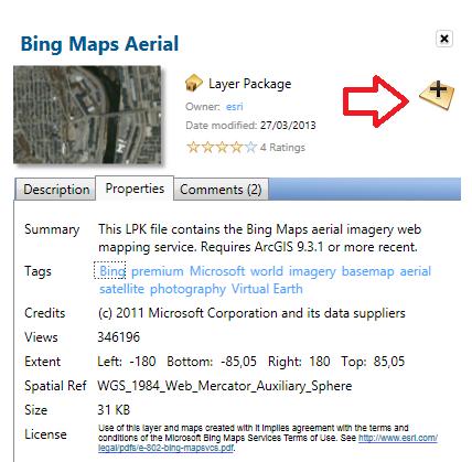 Restaurar acesso aos basemaps do BING no ArcGIS e ArcGIS PRO
