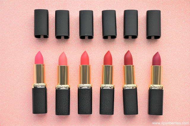 Loreal paris color riche matte addiction lipsticks review