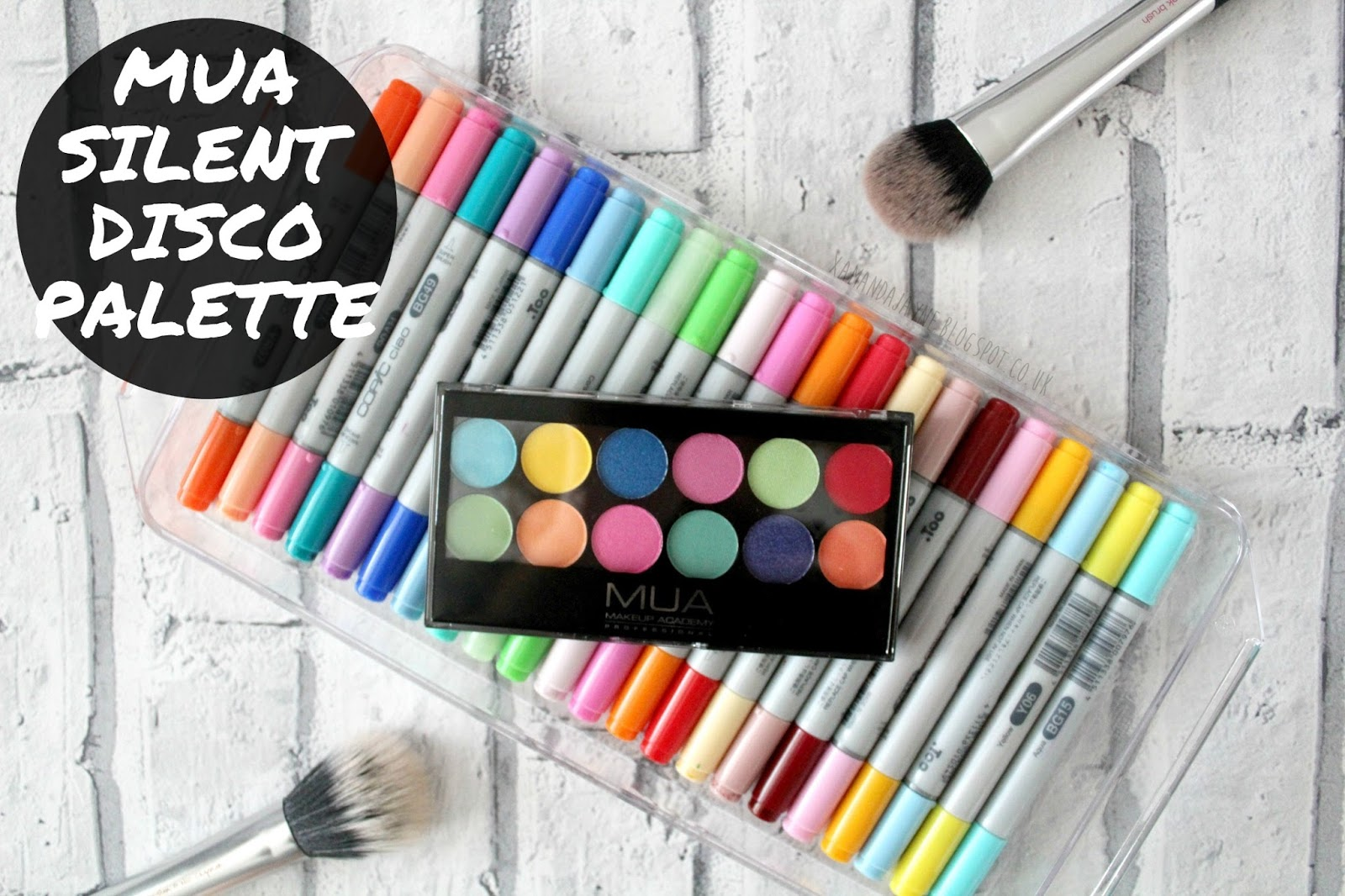 mua cosmetics makeup academy beauty eyeshadow palette silent disco 12 colour bright bold colourful drugstore cheap affordable