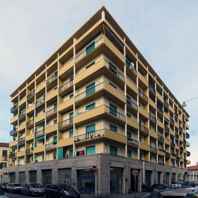 Corner building between Via Ernesto Rossi and Corso Amedeo, Livorno