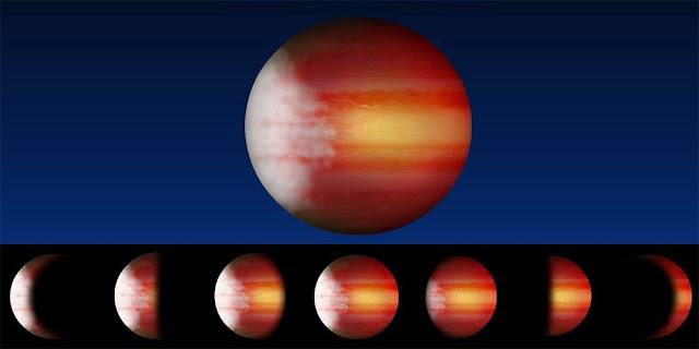 previsão do tempo de diferentes planetas