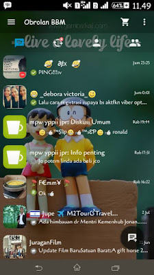 BBM Simple MOD Transparan v2.9.0.45 APK (Backup Free Sticker)