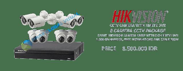 Paket Pasang 8 Kamera CCTV HIKVISION Murah