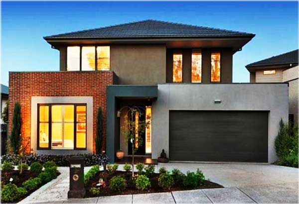 contoh desain rumah minimalis 2 lantai sederhana atap limas
