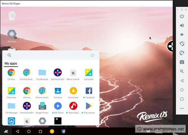محاكي Remix OS Player