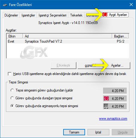 Touchpad kaydırma yönünü nasıl değiştirilir? www.ceofix.com