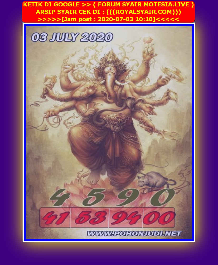 Kode syair Sydney Jumat 3 Juli 2020 182