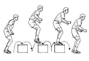 box drills dengan multiple box-to-box jumps