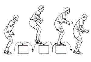 box drills dengan multiple box-to-box jumps