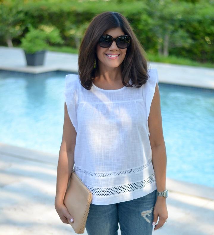 white-crochet-top