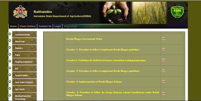 Karnataka State Department of agriculture website.