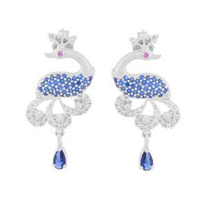 peacock designer earrings