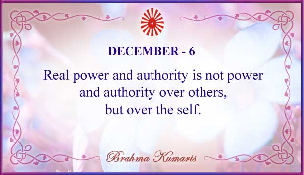 Thought For The Day December 6