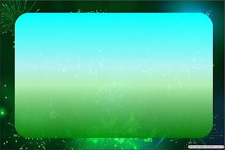 Para hacer invitaciones, tarjetas, marcos de fotos o etiquetas, para imprimir gratis de Azul y Verde.