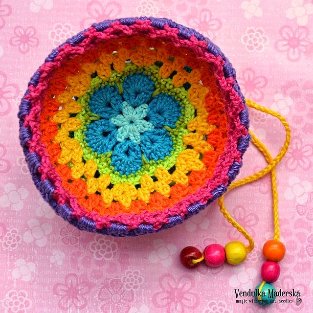 Rainbow Purse Free Tutorial Magic With Hook And Needles