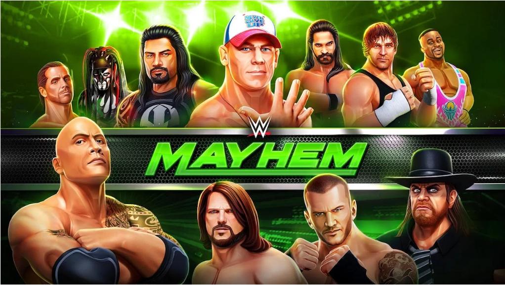 تحميل WWE Mayhem ، أحدث لعبة مصارعه  (MOD Unlocked & Hack)