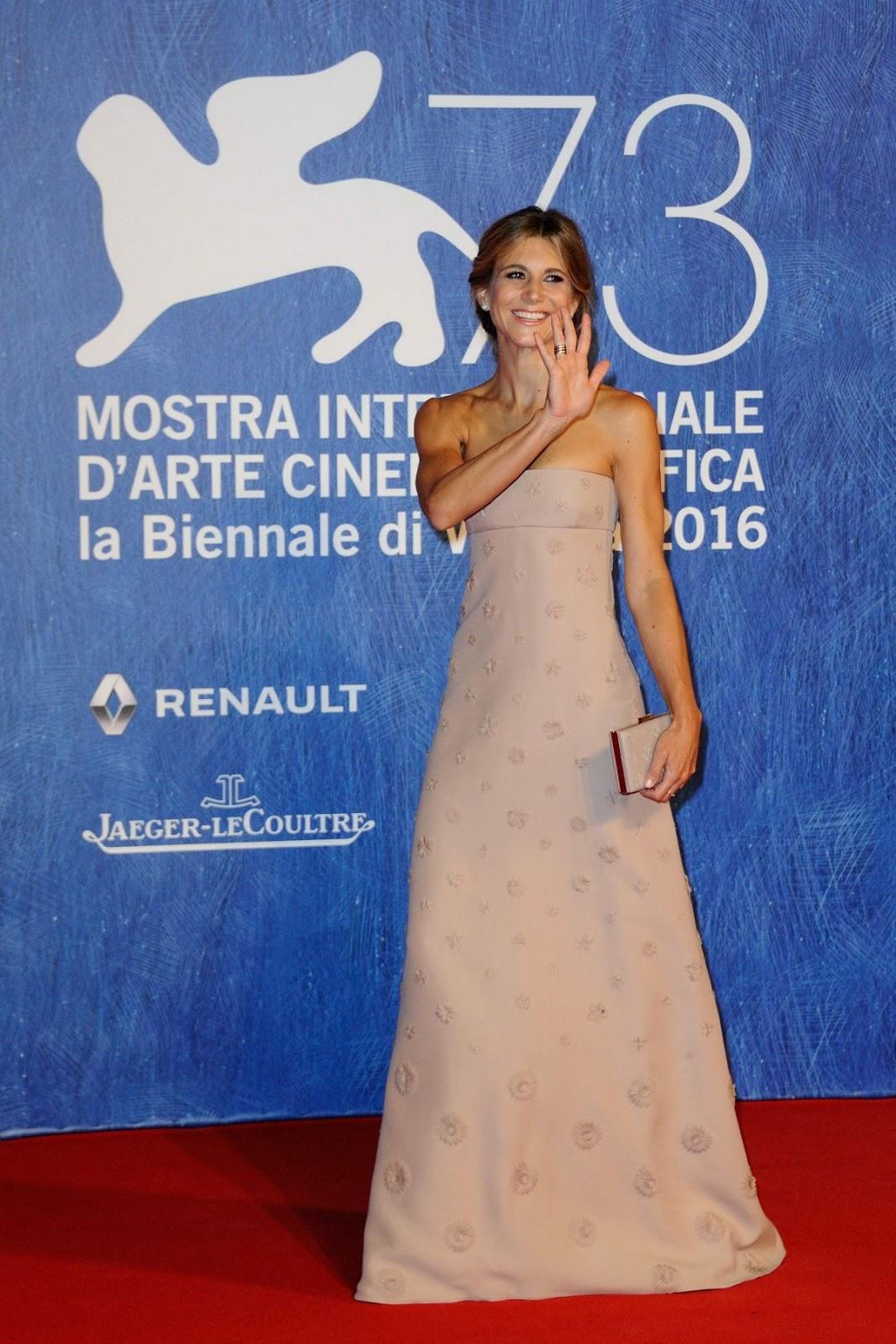 Nicoletta Romanoff at Franca Chaos and Creation Premiere at 2016 73rd Venice Film Festival