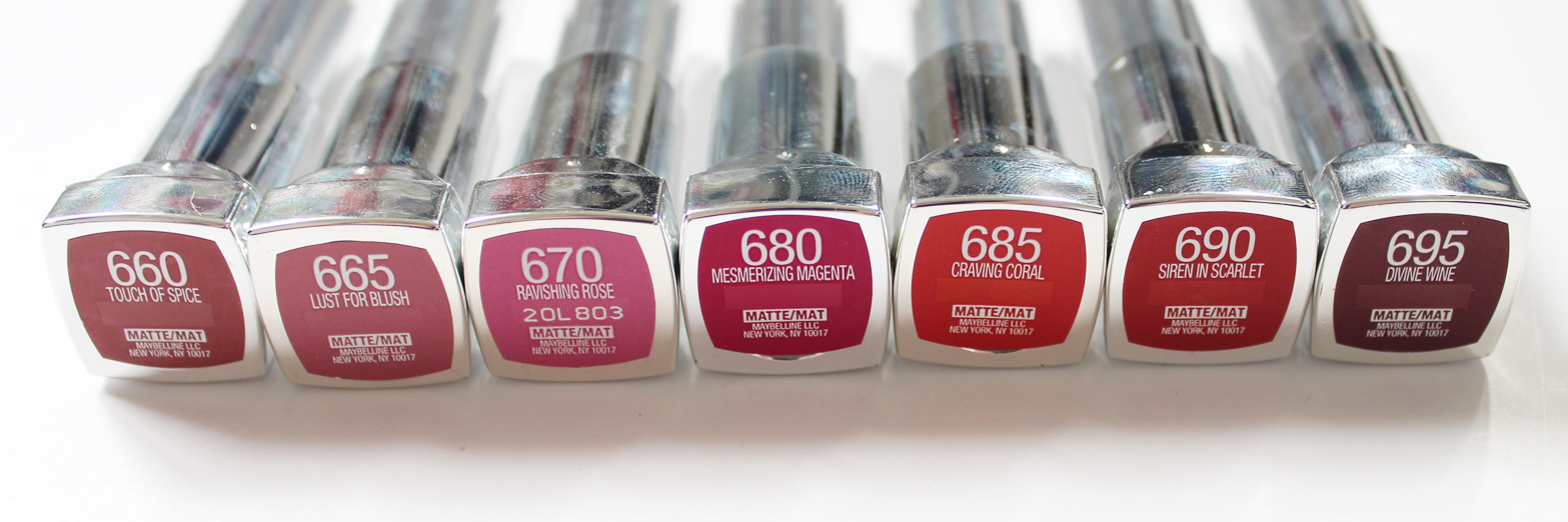 MAYBELLINE | Color Sensational Creamy Matte Lipsticks - Review + Swatches - CassandraMyee