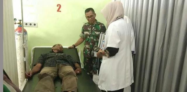 Usai Pilkada, Kakek Minum Tinta Dijemput TNI