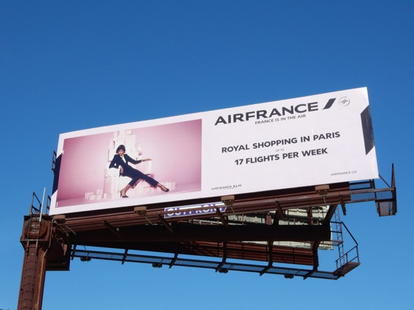 Air France Royal shopping Paris 2015 billboard