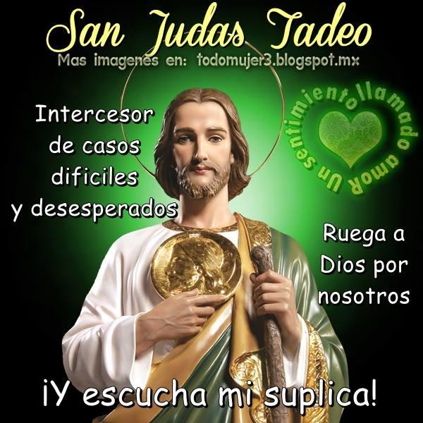 Oraciones Para Todos Oración A San Judas Tadeo Para Una Súplica