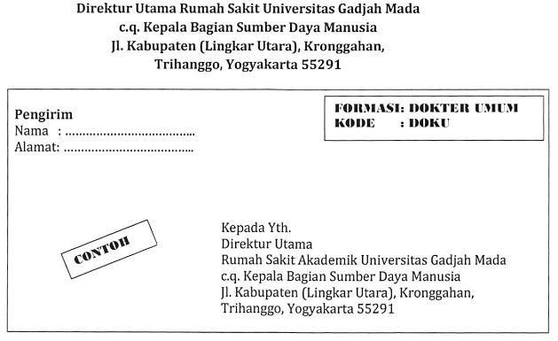 Rekrutmen Tenaga Kontrak Rumah Sakit Akademik Universitas Gadjah Mada