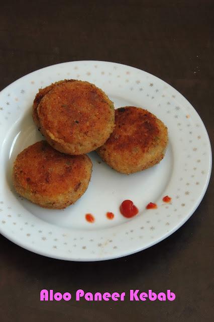 Paneer potato kebab, Aloo paneer cutlets