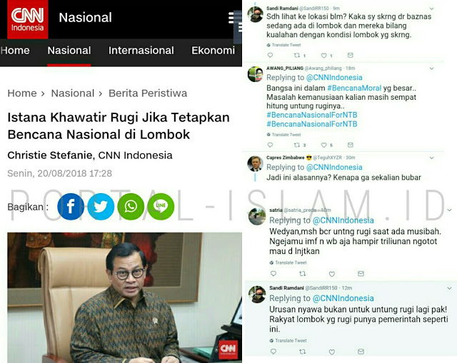 Istana Tak Tetapkan Gempa Lombok Sebagai Bencana Nasional Karena Khawatir Pariwisata Merugi, Warganet BERANG: GILE LU NDROOO!