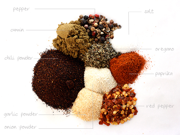 spices and herbs for homemade taco seasoning