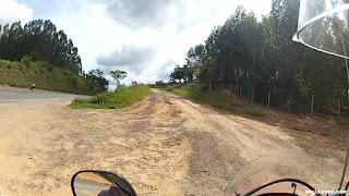 Retornando para a estrada de terra.