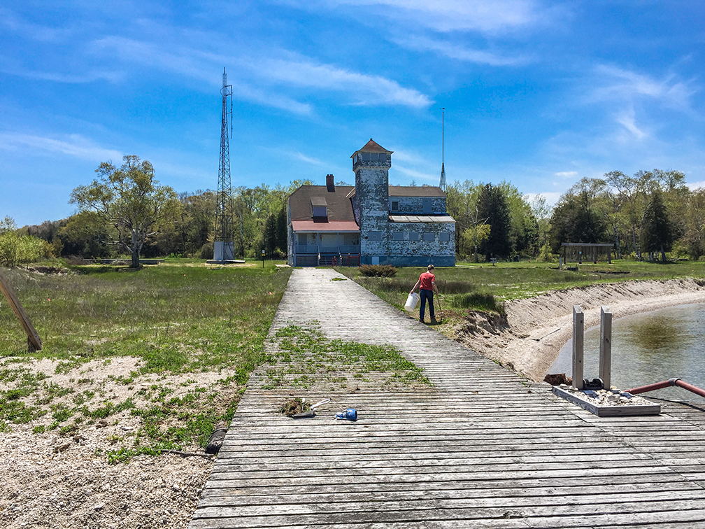 Abandoned Coat Guard Lifesaving Station at Plum Island in Door County WIWisconsin Explorer  Hiking at Plum Island in Door County. Door County Living Classrooms. Home Design Ideas