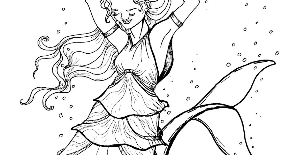 (free!) Original Coloring Pages: Mermaid (Dolphin Tail ...