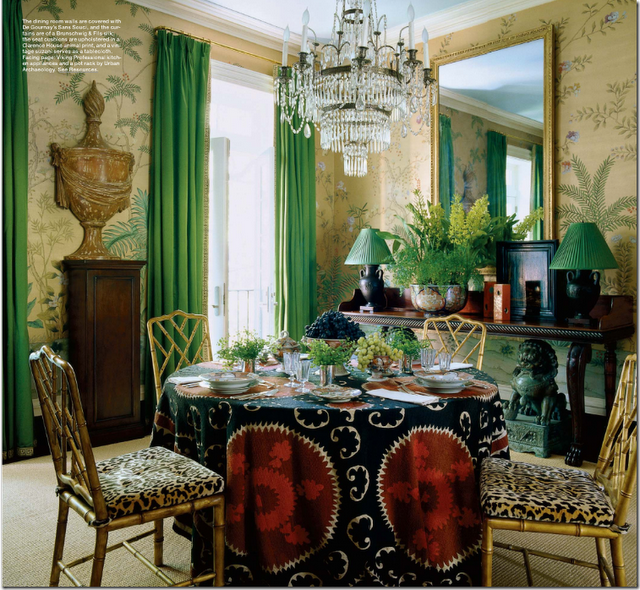 Green Dining Rooms: Chinoiserie Chic: Kelly Green And Chinoiserie