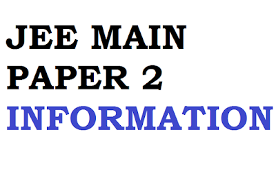 IIT JEE Mains Paper 2 Syllabus ,Sample Question Papers