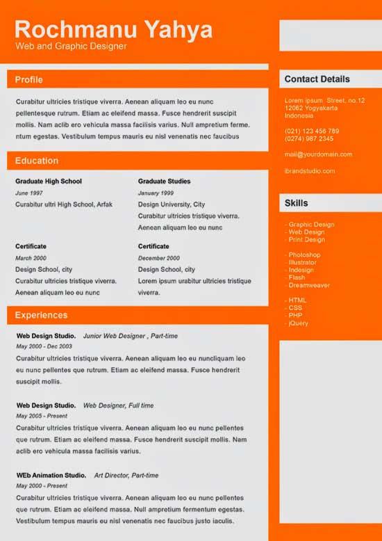 Free Creative Resume Template 18