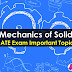 Mechanics of Solid Important GATE Topics