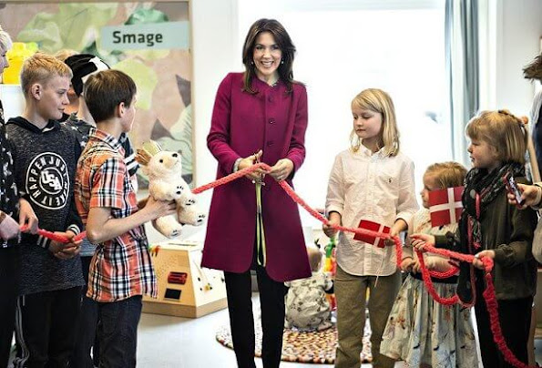 Princess Mary dress Julie Fagerholt, Cecilie Bahnsen coat