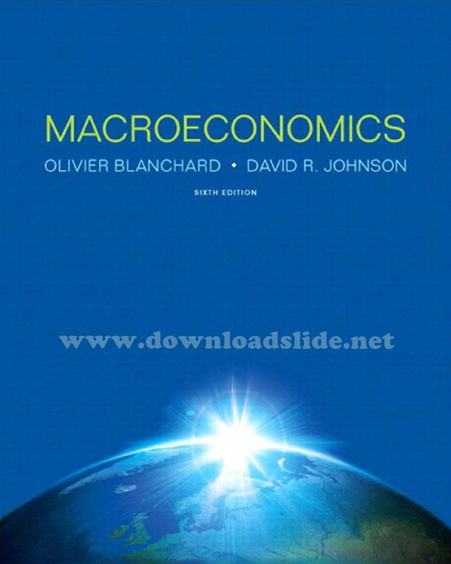 Ebook Macroeconomics 6th Edition by Blanchard and Johnson
