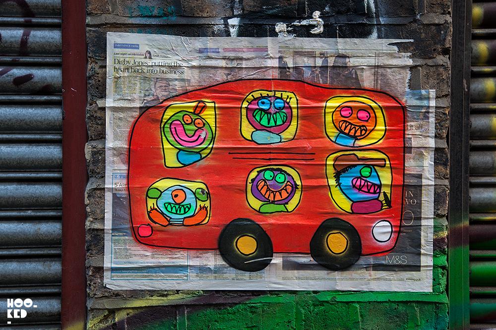 Bortusk Leer - Aberdeen Street Art paste-ups