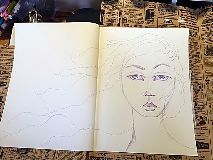 Beautiful Face Journal Page