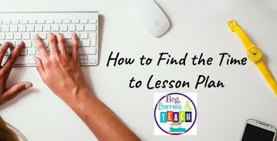 How to Find the Time to Lesson Plan