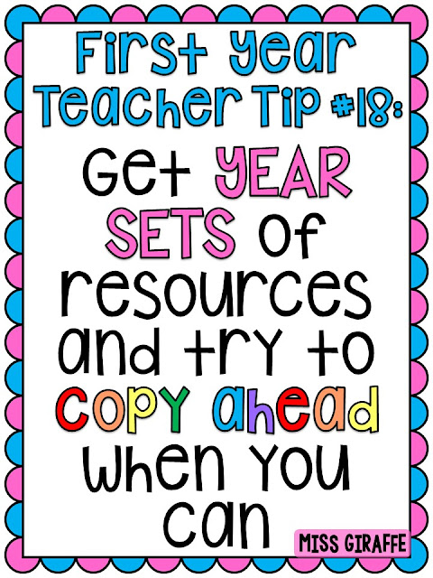 New teacher tips and advice to help guide you through your first year of teaching!