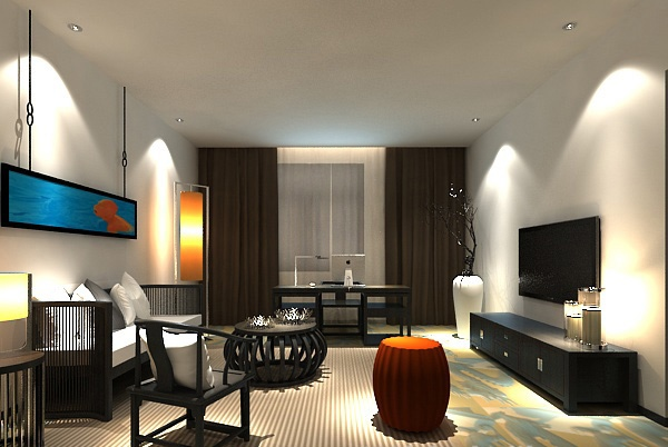 Simple living room model free 3ds max