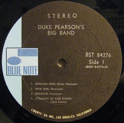 Duke Pearson Big Band Blue Note Label
