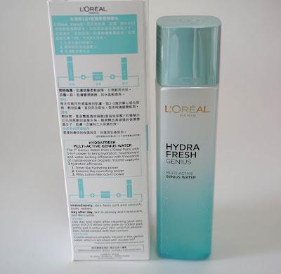 Review of L'Oréal Paris Hydrafresh Genius water