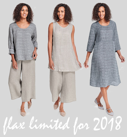 Tender Treasures - Gerry's Blog: New FLAX Clothing LImited 2018 Collection now in Stock