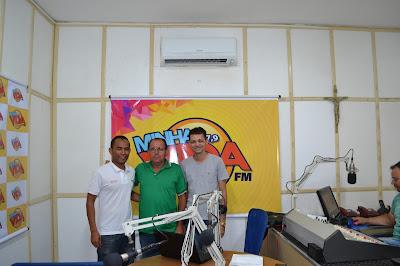 Secretário de esporte e assessor de comunicação de Viçosa, concederam entrevista a rádio Minha Vida FM de Martins