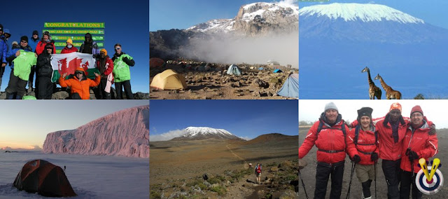 Mount Kilimanjaro Collage