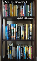 image of my bookshelf